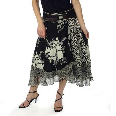Black/White Wrap Skirt
