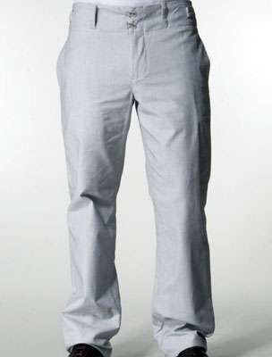 Undertow Lattice Suit Pant in Coconut White/HMS Navy